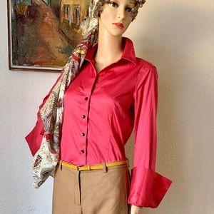 Banana Republic Red button non iron cotton shirt